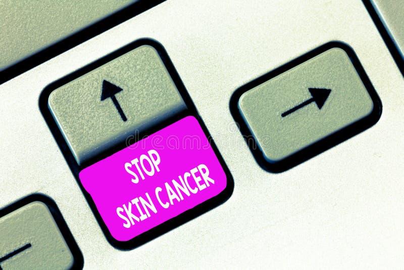 Pisać nutowym seans przerwy skóry nowotworze Biznesowa fotografia pokazuje wystrzeganie prolonguje ujawnienie pozafioletowy napro obrazy stock