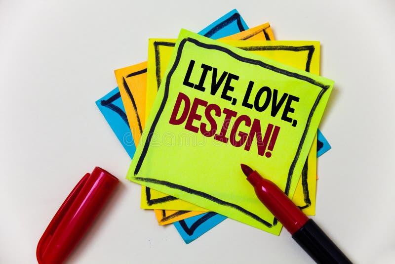Pisać nutowym seansie Żywym, miłość, Projektuje Motywacyjnego wezwanie Biznesowy fotografii pokazywać Istnieje czułość Tworzy Pas zdjęcie stock