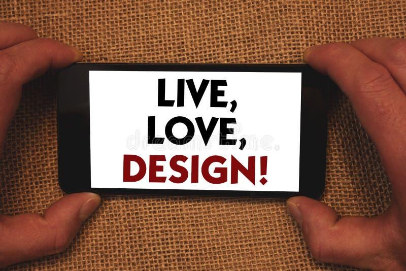Pisać nutowym seansie Żywym, miłość, Projektuje Motywacyjnego wezwanie Biznesowy fotografii pokazywać Istnieje czułość Tworzy Pas obrazy royalty free
