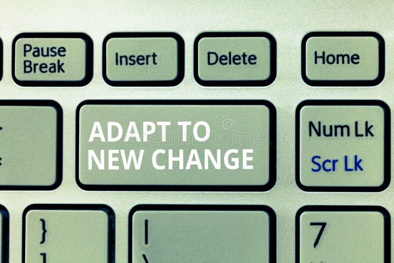 Pisać nutowym seansie Adaptuje Nowa zmiana Biznesowy fotografii pokazywać Dostaje Używać Opóźniona Mindset i zachowania innowacja zdjęcie stock