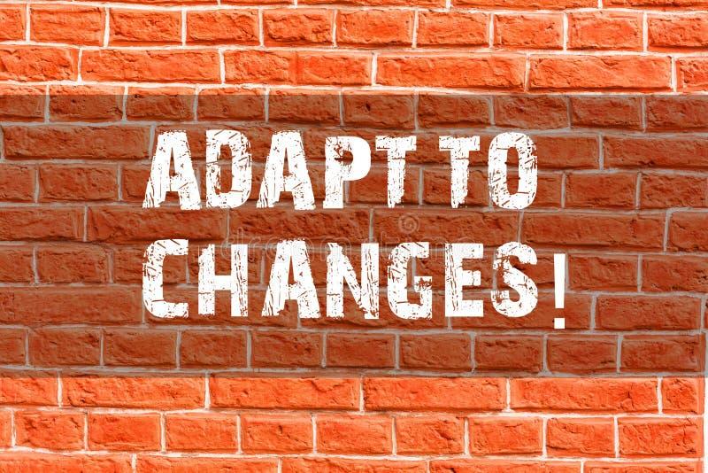 Pisać nutowym seansie Adaptuje zmiany Biznesowa fotografia pokazuje Nowatorską zmiany adaptację z technologicznym ilustracji