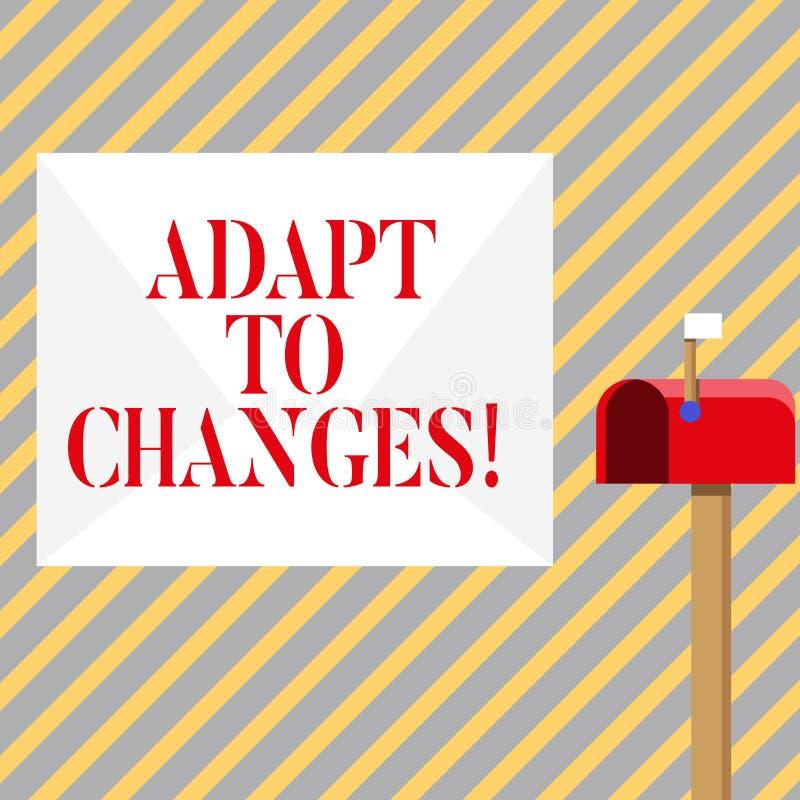 Pisać nutowym seansie Adaptuje zmiany Biznesowa fotografia pokazuje zmianę w rozkaz transakcji z nim twój zachowanie ilustracji