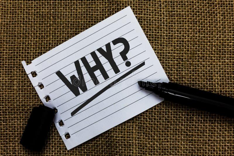 Pisać nutowym seansie Dlaczego pytanie Biznesowa fotografia pokazuje Pytać dla odmianowych odpowiedzi coś przesłuchuje dowiaduje  zdjęcie royalty free