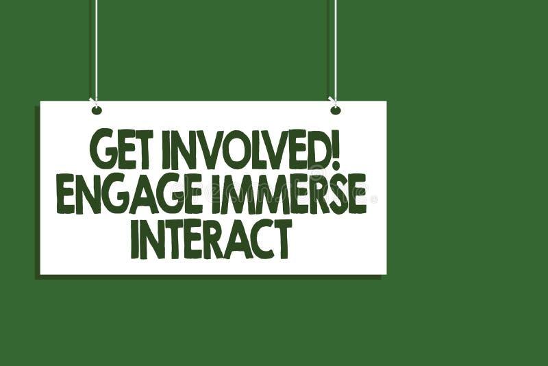 Pisać nutowym seansie Dostaje Zaangażowany Angażuje Immerse antrakt Biznesowy fotografii pokazywać Łączy Łączy Uczestniczy w proj ilustracja wektor