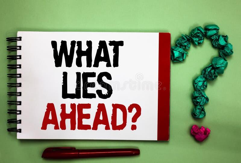Pisać nutowym seansie Jaki kłamstwa Naprzód kwestionują Biznesowa fotografia pokazuje Pytać dla informacji o coś na zdjęcie stock