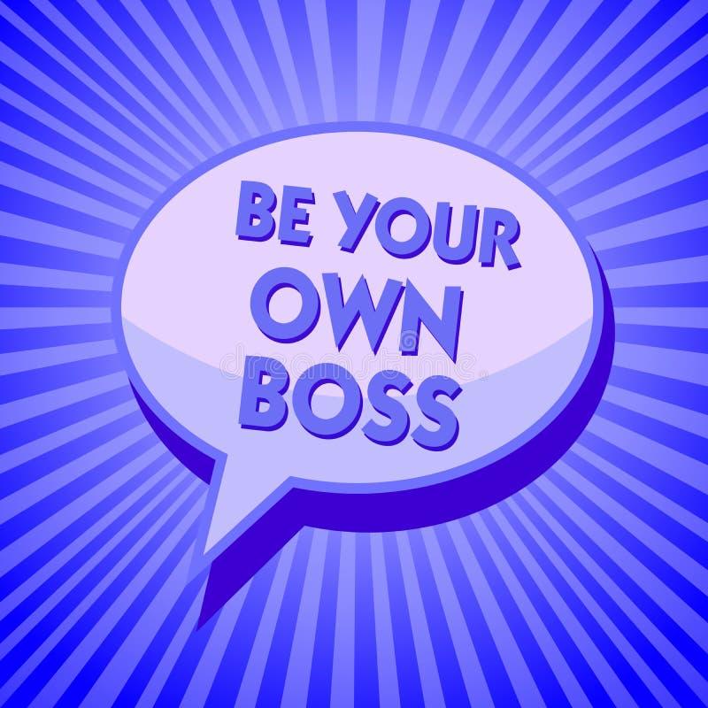 Pisać nutowym seansie Jest Twój Swój szefem Biznesowa fotografia pokazuje przedsiębiorczość początku niezależności biznesową jaźń royalty ilustracja