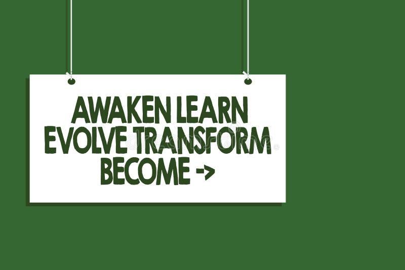 Pisać nutowym seansie Obudzi Uczy się Rozwija transformatę Zostać Biznesowa fotografia pokazuje inspiraci motywację Ulepsza obwie ilustracja wektor