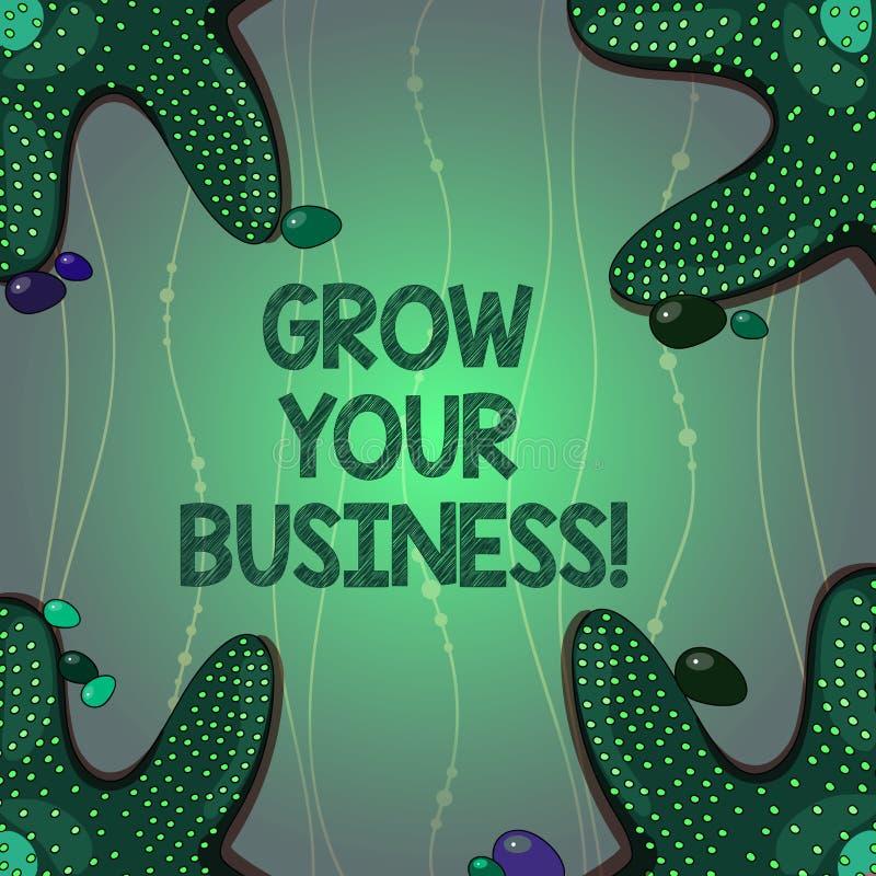 Pisać nutowym seansie R Twój biznes Biznesowa fotografia pokazuje ulepszający niektóre miarę przedsięwzięcie firmy royalty ilustracja