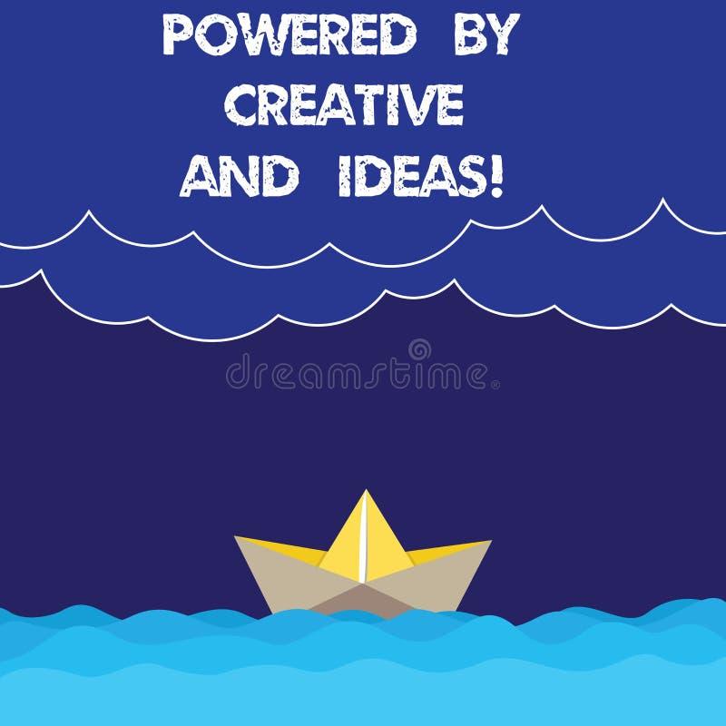Pisać nutowym seansie Zasilającym Kreatywnie I pomysłami Biznesowa fotografia pokazuje Potężnej twórczości innowacji dobrą energi royalty ilustracja