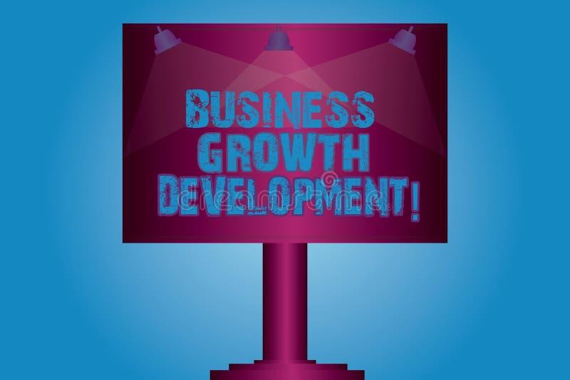 Pisać nutowym seansu biznesu przyrosta rozwoju Biznesowa fotografia pokazuje ulepszający niektóre miarę przedsięwzięcie sukcesu p ilustracji