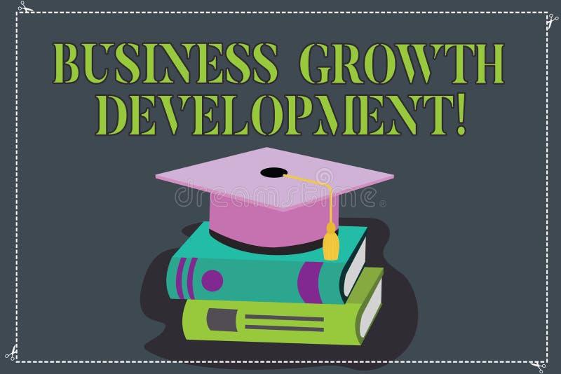 Pisać nutowym seansu biznesu przyrosta rozwoju Biznesowa fotografia pokazuje ulepszający niektóre miarę przedsięwzięcie ilustracji