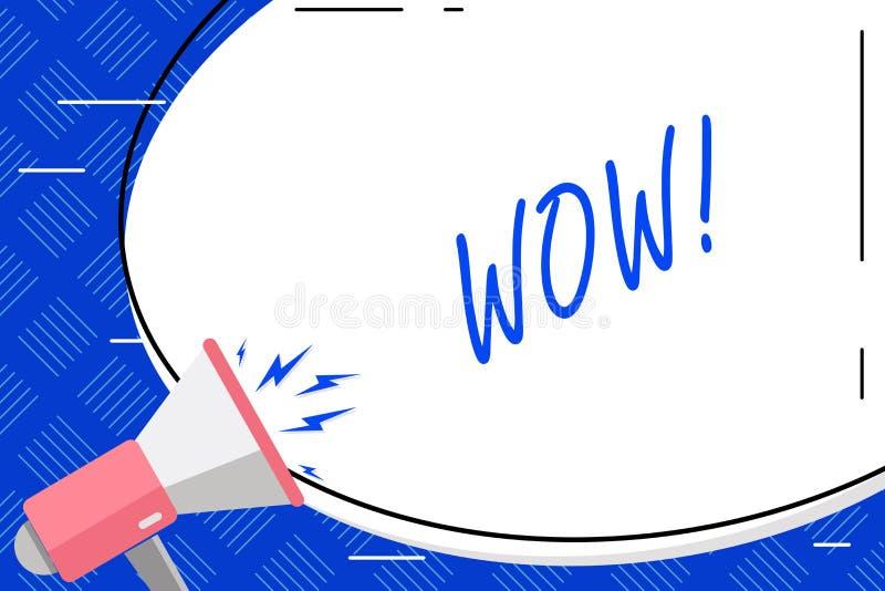 Pisać nutowym seansu no! no! Biznesowa fotografia pokazuje wyrażenie somebody bezmowny zadziwiający rozradowany Pusty Biały Ogrom ilustracja wektor