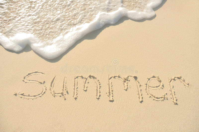 pisać piaska plażowy lato obrazy royalty free