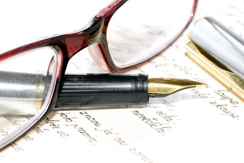 pisać ręki wiadomość fotografia stock