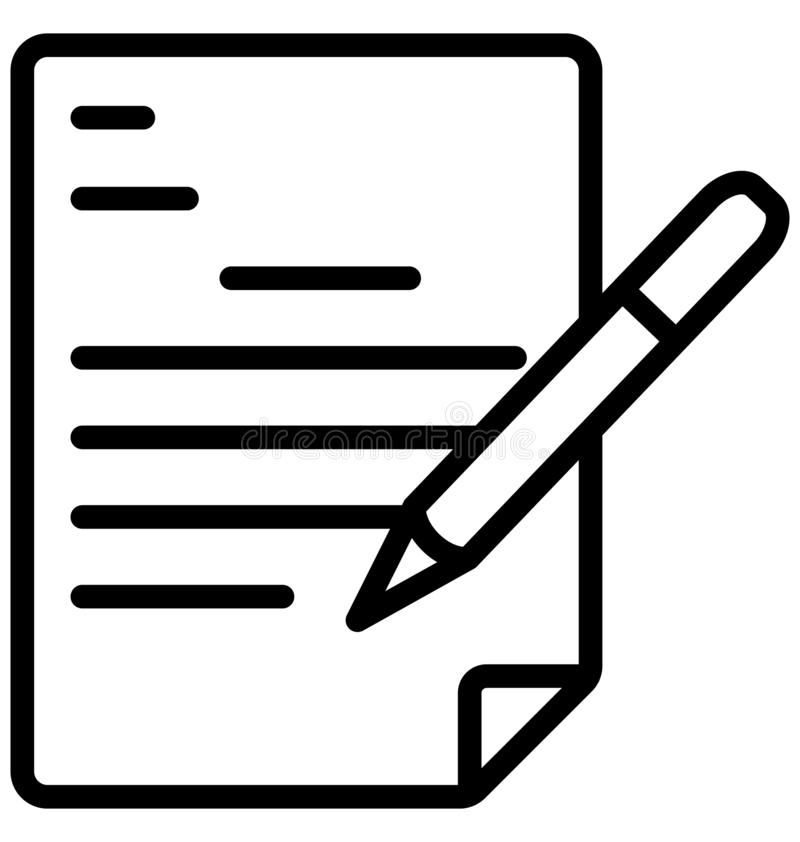 Pisać, Redaguje kartoteka Odizolowywającą Wektorową ikonę Która może być bardzo łatwo redaguje lub modyfikujący ilustracji