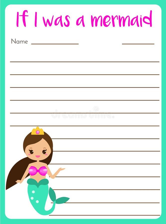 Pisać szybki dla dzieciaków pustych Edukacyjna dziecko strona Rozwija fantazi i writing opowieści umiejętności ilustracja wektor