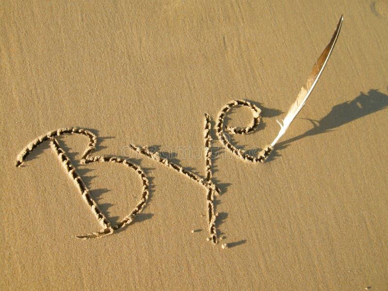pisać walkoweru piasek zdjęcia stock