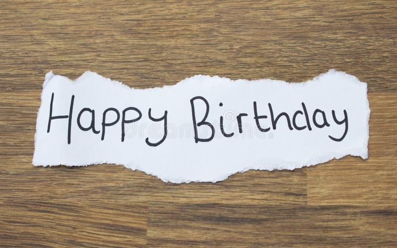 Pisać wszystkiego najlepszego z okazji urodzin obrazy stock