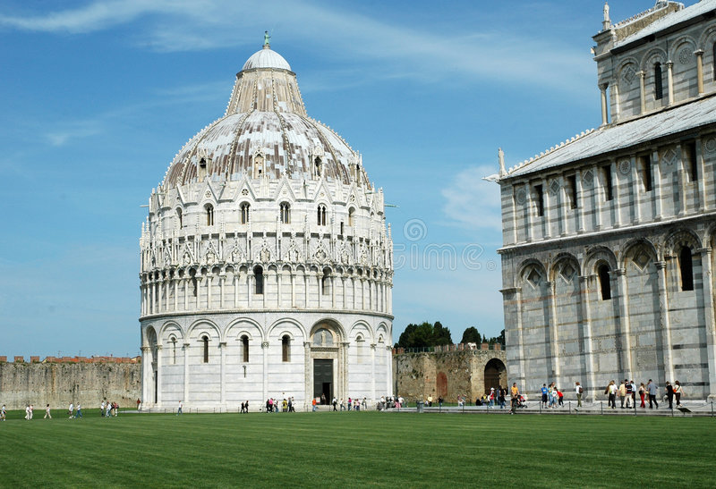 Pisa. Duomo Square with Leaning Tower in Pisa Italy royalty free stock photos
