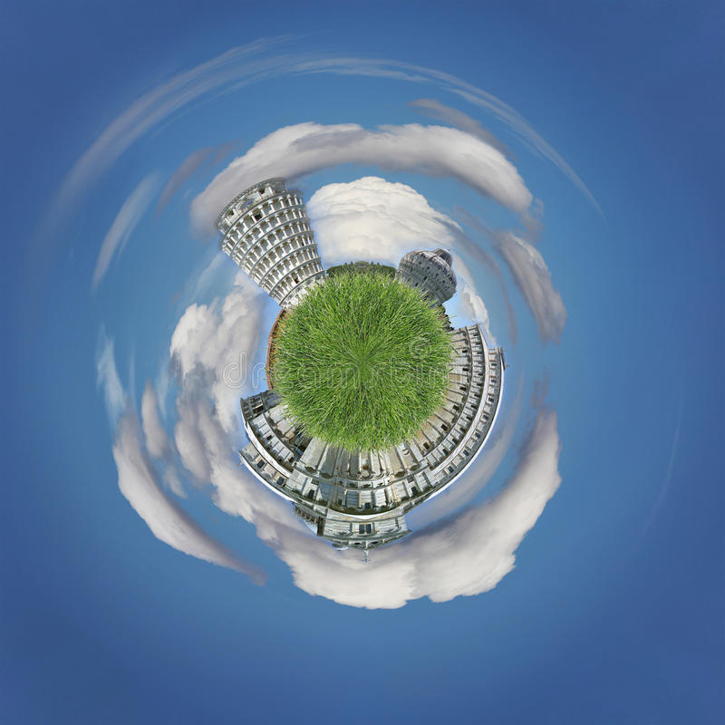 Pisa as a planet stock image