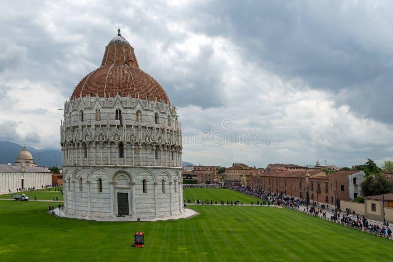 Pisa Baptistery of St John lizenzfreies stockbild