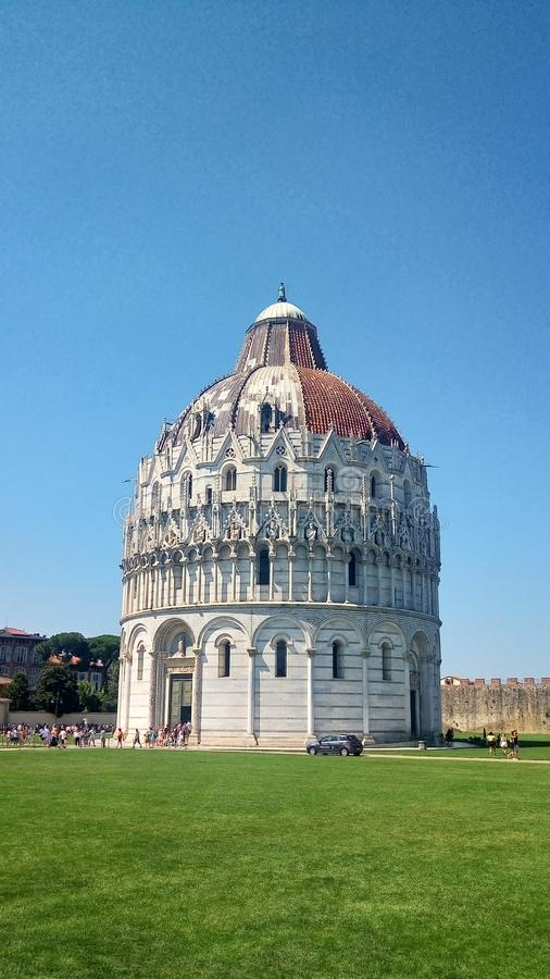 The Pisa Baptistery of St. JohnSquare of Miracles stock photos