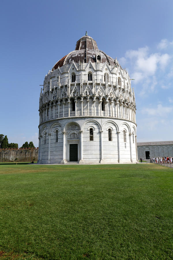 Pisa Baptistry of St John stock photography