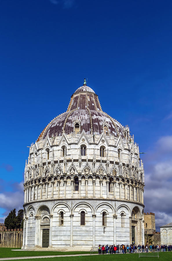 Pisa baptysterium, Włochy obrazy royalty free