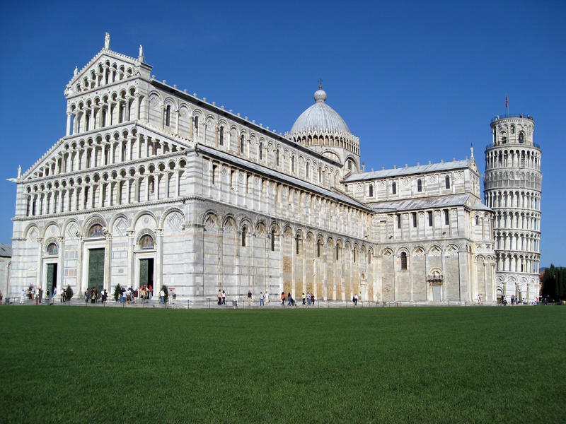 Pisa Italy Cathedral and Leaning Tower royalty free stock photos