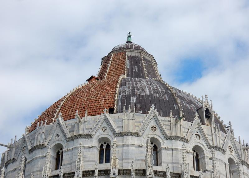 Pisa - Detail of the Baptistery royalty free stock photo
