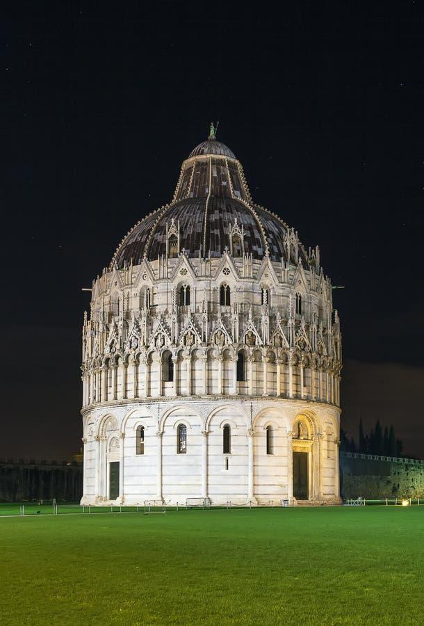 Pisa dopkapell, Italien arkivfoto