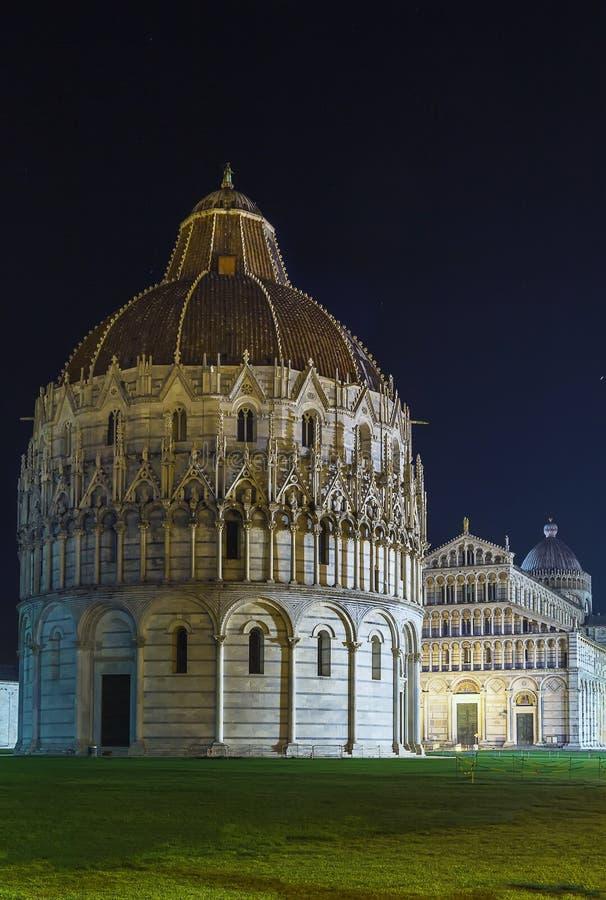 Pisa dopkapell, Italien arkivbilder