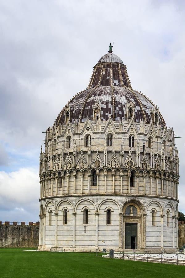 Pisa dopkapell, Italien arkivbild
