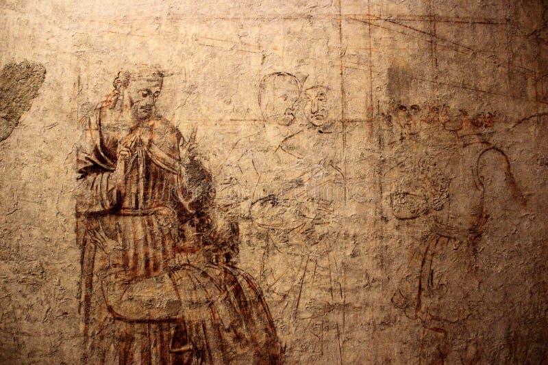 PISA, ITALIA - CIRCA FEBBRAIO 2018: Museo di Sinopie al quadrato dei miracoli immagine stock libera da diritti