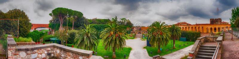 Pisa, Italy. Giardino Scotto panoramic view stock photography