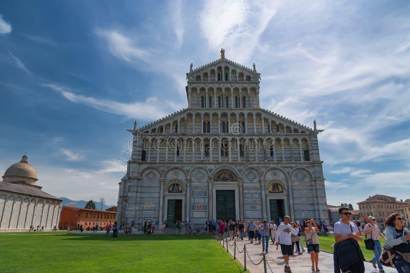 Pisa, Italy-May 24, 2017:Magnificent daily view at the Pisa Cathedral Cattedrale Metropolitana Primaziale di Santa Maria Assunta; stock photo