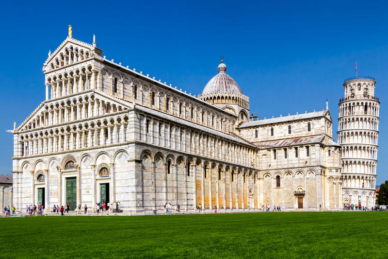 Pisa-Kathedrale am Quadrat von Wundern, Toskana, Italien stockfotografie