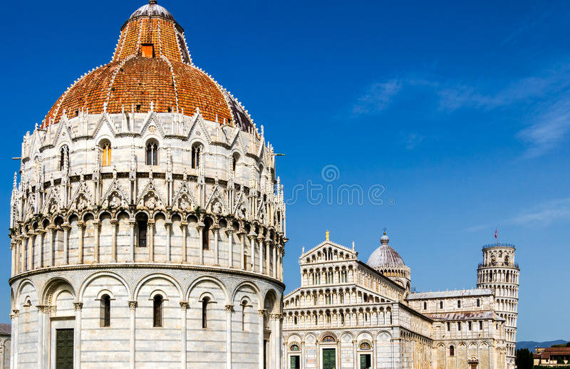 Pisa-Kathedrale am Quadrat von Wundern, Toskana, Italien lizenzfreie stockfotografie