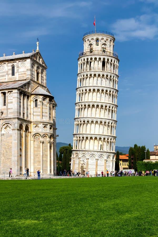 Pisa-Kathedrale am Quadrat von Wundern, Toskana, Italien stockbild