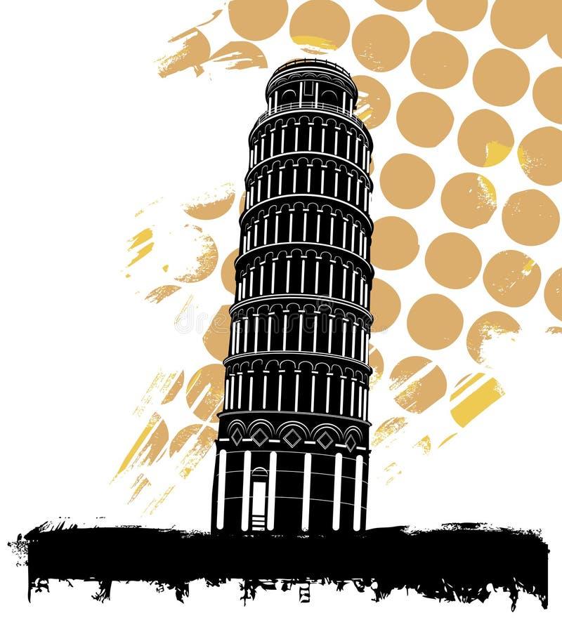 Pisa-Kontrollturm stock abbildung