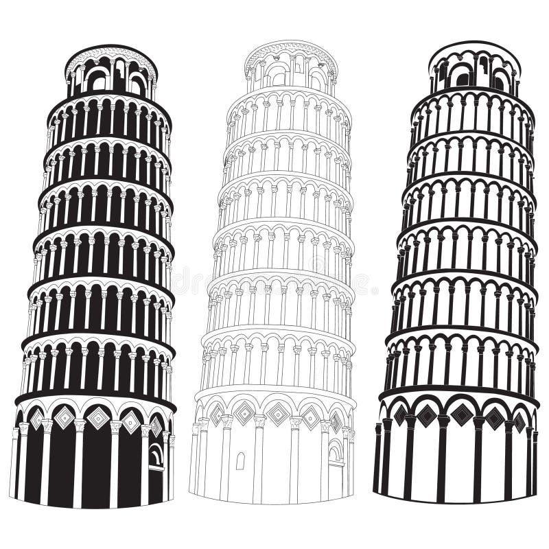 Pisa-Kontrollturm vektor abbildung