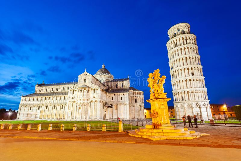 Pisa Leaning Tower in Italië royalty-vrije stock afbeelding