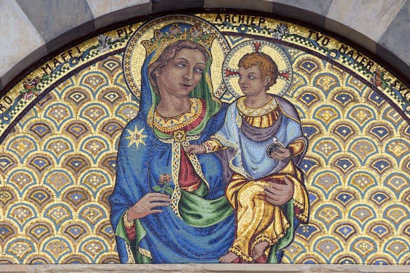Pisa, mosaic of Santa Caterina church royalty free stock photography