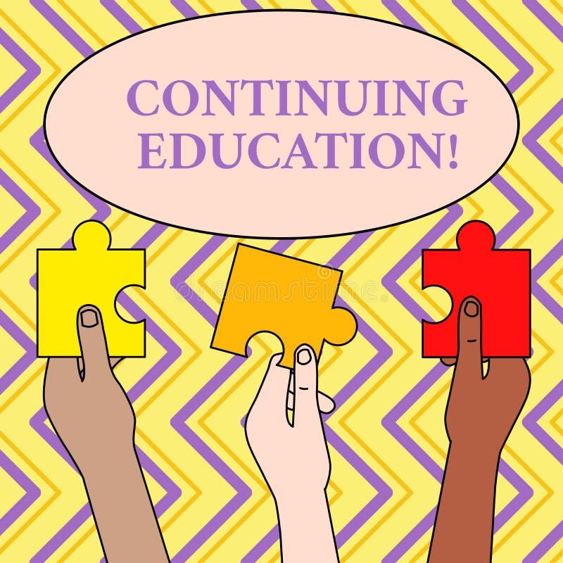 Pisa? nutowej pokazuje Kontynuuje edukaci Biznesowa fotografia pokazuje Kontynuuj?cych uczenie aktywno?ci profesjonalist?w anga?u royalty ilustracja
