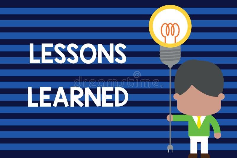 Pisa? nutowych pokazuje lekcjach Uczy? si? Biznesowa fotografia pokazuje informacj? odbija pozytywnych i negatywnych do?wiadczeni ilustracja wektor