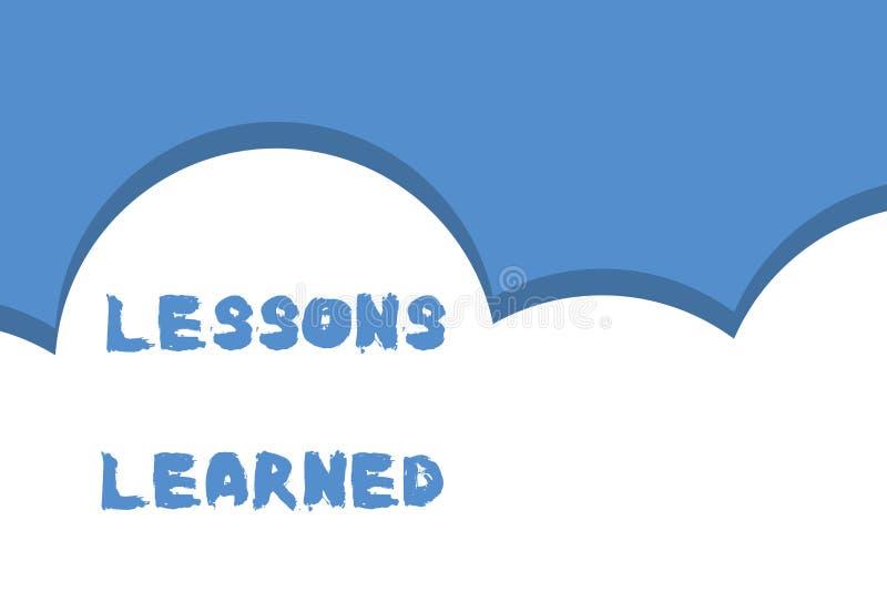 Pisa? nutowych pokazuje lekcjach Uczy? si? Biznesowa fotografia pokazuje informacj? odbija pozytywnych i negatywnych do?wiadczeni ilustracji