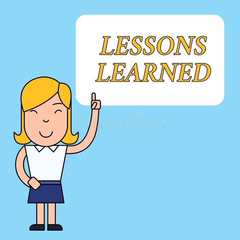 Pisa? nutowych pokazuje lekcjach Uczy? si? Biznesowa fotografia pokazuje wiedzę zyskujących doświadczeniem rozumieć lub royalty ilustracja