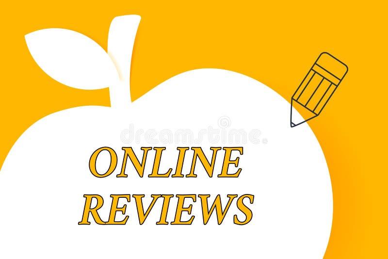 Pisa? nutowych seans?w przegl?dach Online Biznesowa fotografia pokazuje produktu cenienia klienta informacje zwrotne publikuje w ilustracji