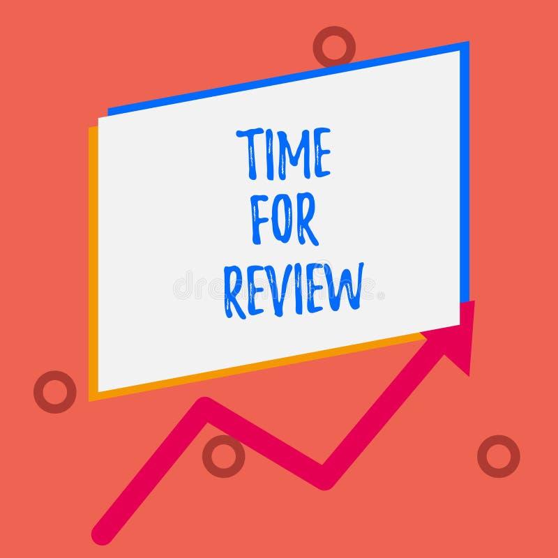 Pisa? nutowym pokazuje czasie Dla przegl?du Biznesowa fotografia pokazuje przegląd sytuacja w swój formalnym lub system ilustracja wektor