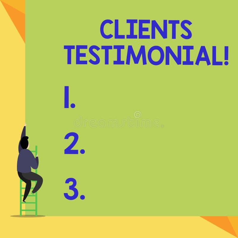 Pisa? nutowym pokazuje klientom Testimonial Biznesowa fotografia pokazuje Formalnego o?wiadczenie Zeznaje Szczerego poparcie obok ilustracji